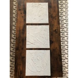 Set of 3 textured canvases